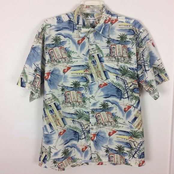 3c79e86ac Pierre Cardin Shirts | Hawaiian Shirt Aloha Camp Tropical | Poshmark